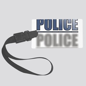 POLICEBLUE1 Large Luggage Tag