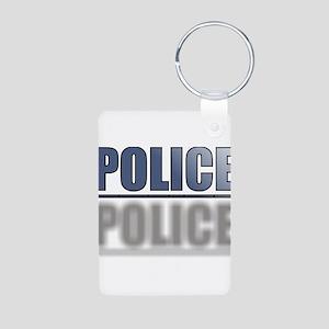 POLICEBLUE1 Aluminum Photo Keychain