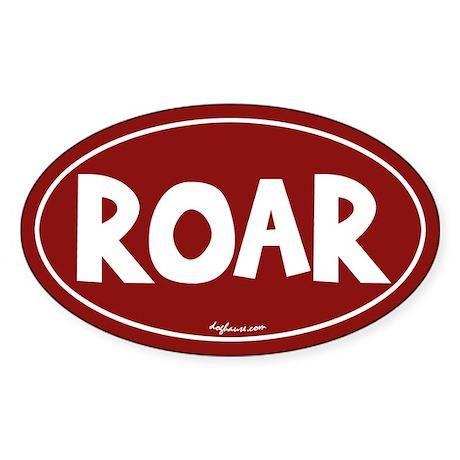 Roar Oval Sticker