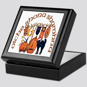 Symbols of Halloween (Gaelic) Keepsake Box