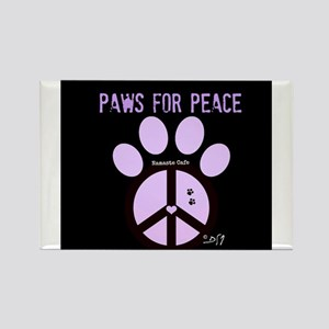 Paws for Peace Rectangle Magnet