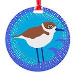 snowy plover Round Ornament