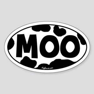 Moo Oval Sticker