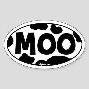 Moo Oval Sticker
