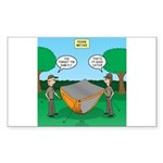 Camping Rookie Mistake Sticker (Rectangle 10 pk)