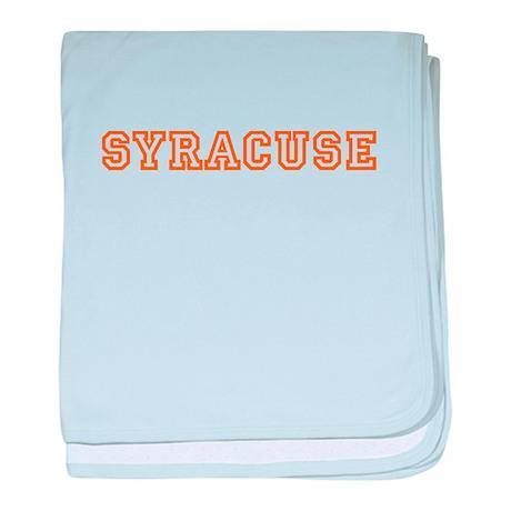 Syracuse baby blanket