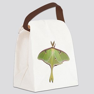 Large Green Moth Canvas Lunch Bag