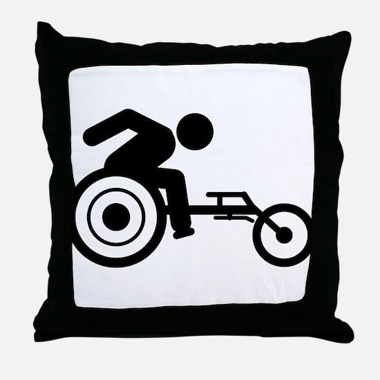 Wheelchair Racing Throw Pillow
