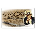 bill of rights 2nd admen Sticker (Rectangle 50 pk)