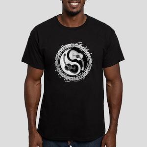 Yin Guit Notation Men's Fitted T-Shirt (dark)