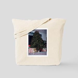 Serious cat card Tote Bag