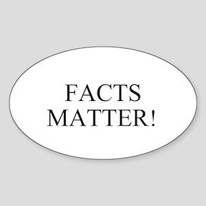 Facts matter! -Joe Biden Sticker (Oval)