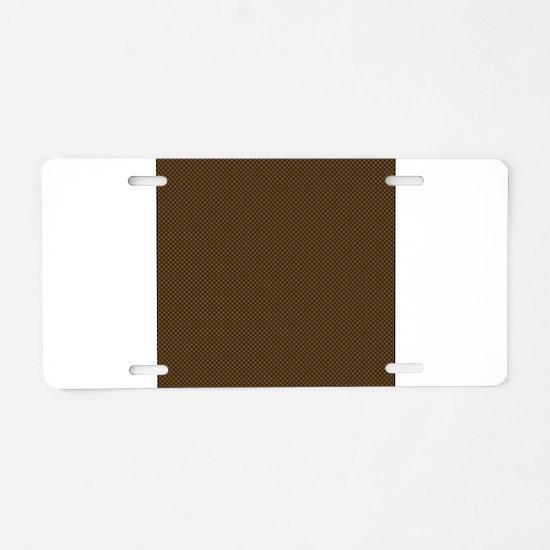 Brown Polka Dot Print Aluminum License Plate