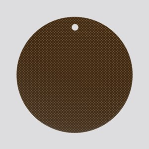 Brown Polka Dot Print Ornament (Round)