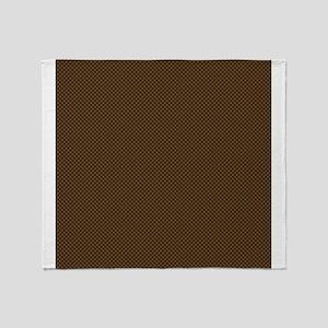 Brown Polka Dot Print Throw Blanket