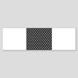 White Black Skull Crossbones Print Sticker (Bumper