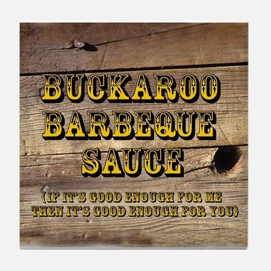Buckaroo on Wood - Tile Coaster