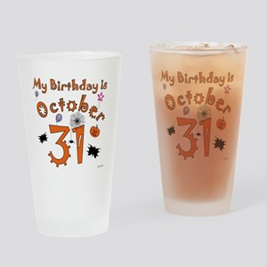 Halloween Birthday Drinking Glass
