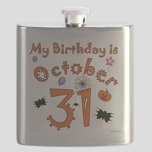 Halloween Birthday Flask