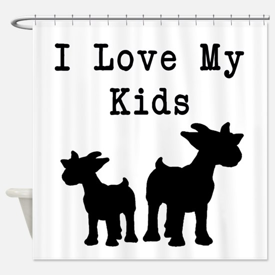 I Love My Kids Shower Curtain