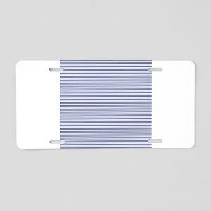 Blue White Nautical Stripes Aluminum License Plate
