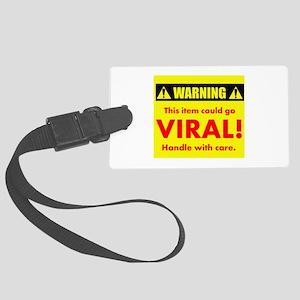 Warning: Viral Item Large Luggage Tag