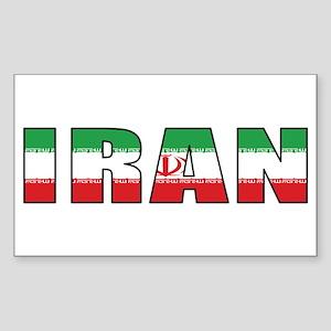 Iran Rectangle Sticker
