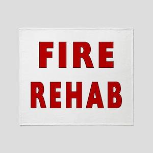 fire rehab sign Throw Blanket
