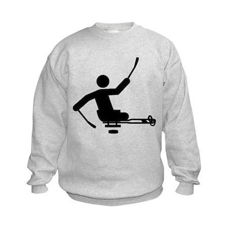 Physically Challenged Sled Hockey Kids Sweatshirt