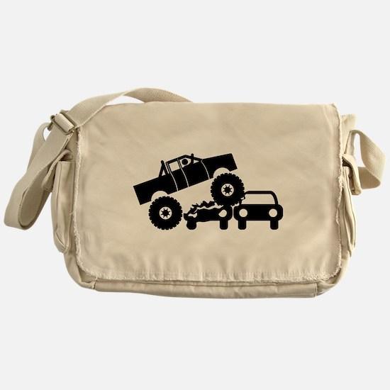 Monster Truck Messenger Bag