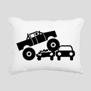 Monster Truck Rectangular Canvas Pillow
