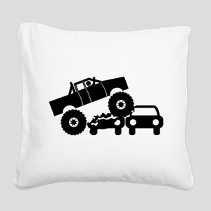 Monster Truck Square Canvas Pillow