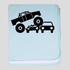 Monster Truck baby blanket