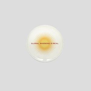 global warming Mini Button