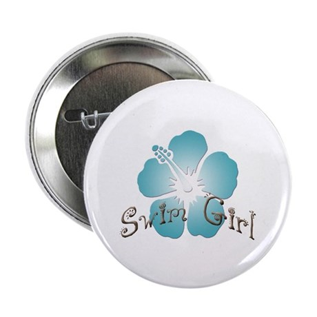 "Swim Girl - Blue 2.25"" Button (10 pack)"
