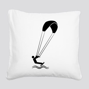 Kiteboarding Square Canvas Pillow