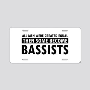 Bassists Designs Aluminum License Plate
