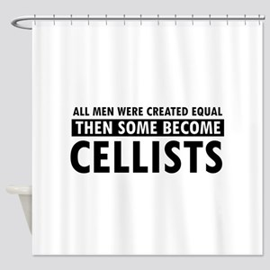 Cellists Designs Shower Curtain