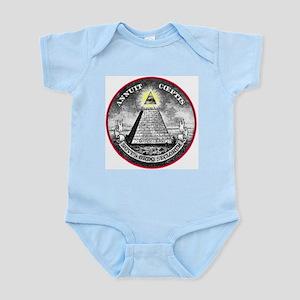 "Weird Dollar ""Illuminati"" Infant Creeper"
