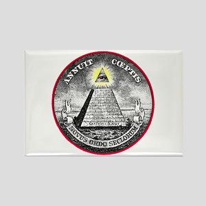 "Weird Dollar ""Illuminati"" Rectangle Magnet"