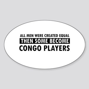 Congo Players Designs Sticker (Oval)