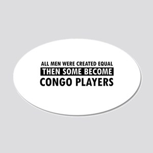 Congo Players Designs 20x12 Oval Wall Decal
