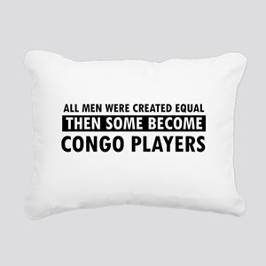 Congo Players Designs Rectangular Canvas Pillow