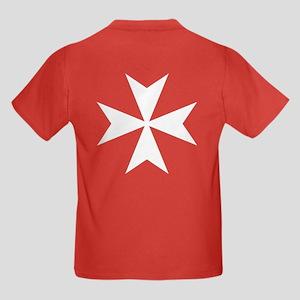 White Maltese Cross Kids Dark T-Shirt