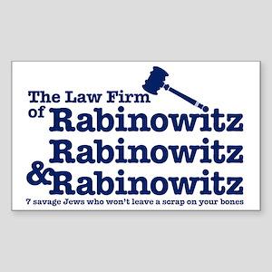 Rabinowitz Law Firm - Rectangle Sticker