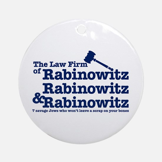 Rabinowitz Law Firm - Ornament (Round)