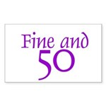 50 50th Birthday Men Women Rectangle Sticker