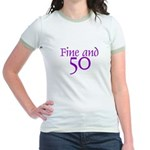 50 50th Birthday Men Women Jr. Ringer T-Shirt