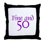 50 50th Birthday Men Women Throw Pillow