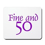 50 50th Birthday Men Women Mousepad